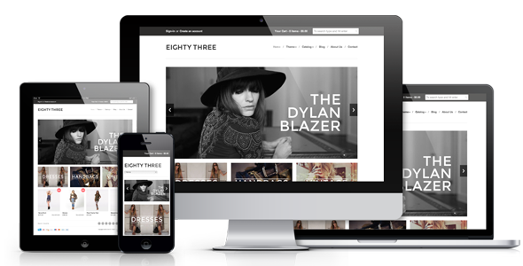 Shopify Design of the Website Eighty Three