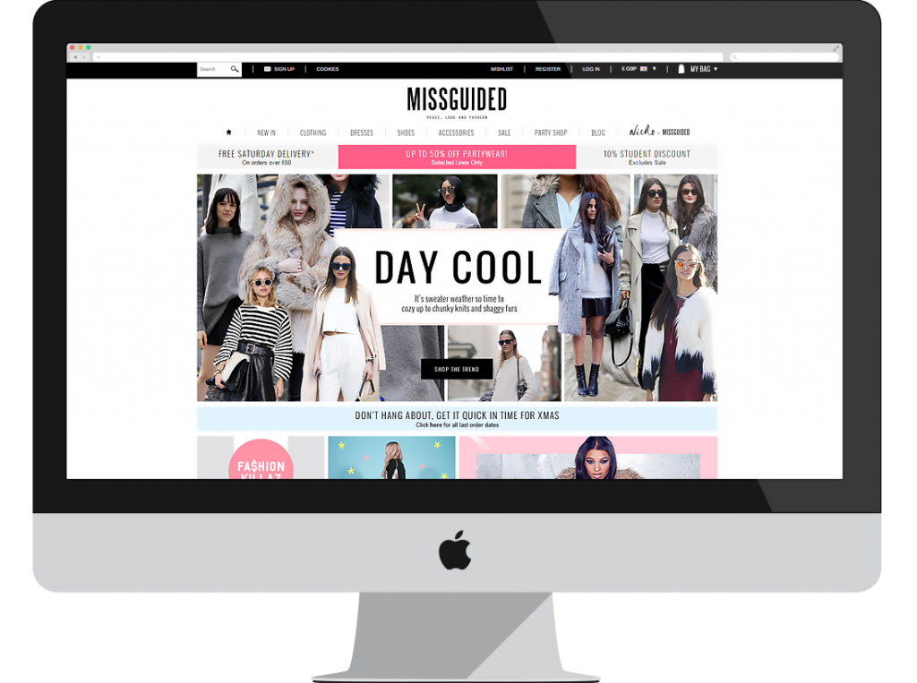 Missguided: There is nothing misguided about the design of this top ecommerce store