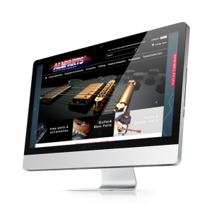 Allparts Website Design