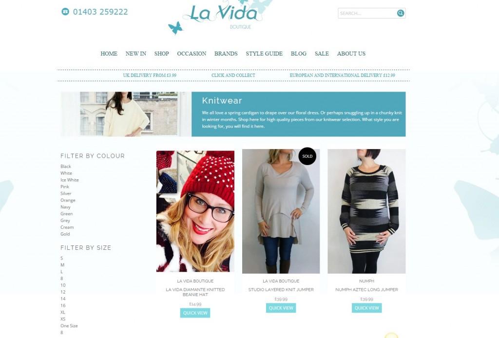 La Vida Boutique Shopify Product Tags