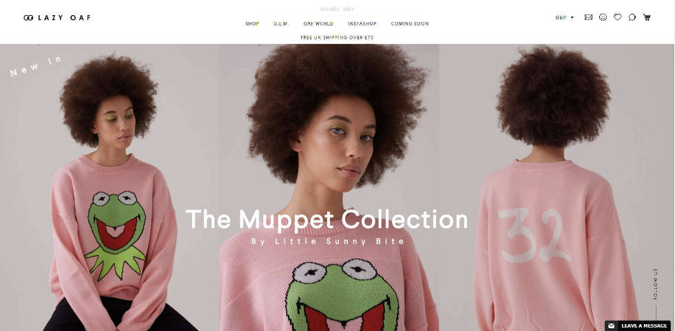 Say hello to the new Lazy Oaf website