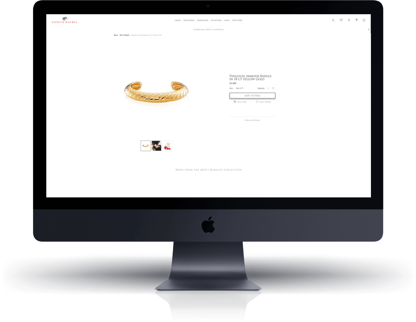 Patrick Mavros Shopify Product Page