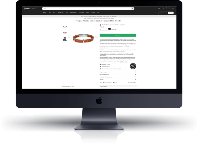 JewelStreet Shopify Product Page