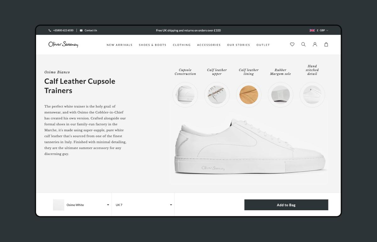 Oliver Sweeney Product Image Shopify