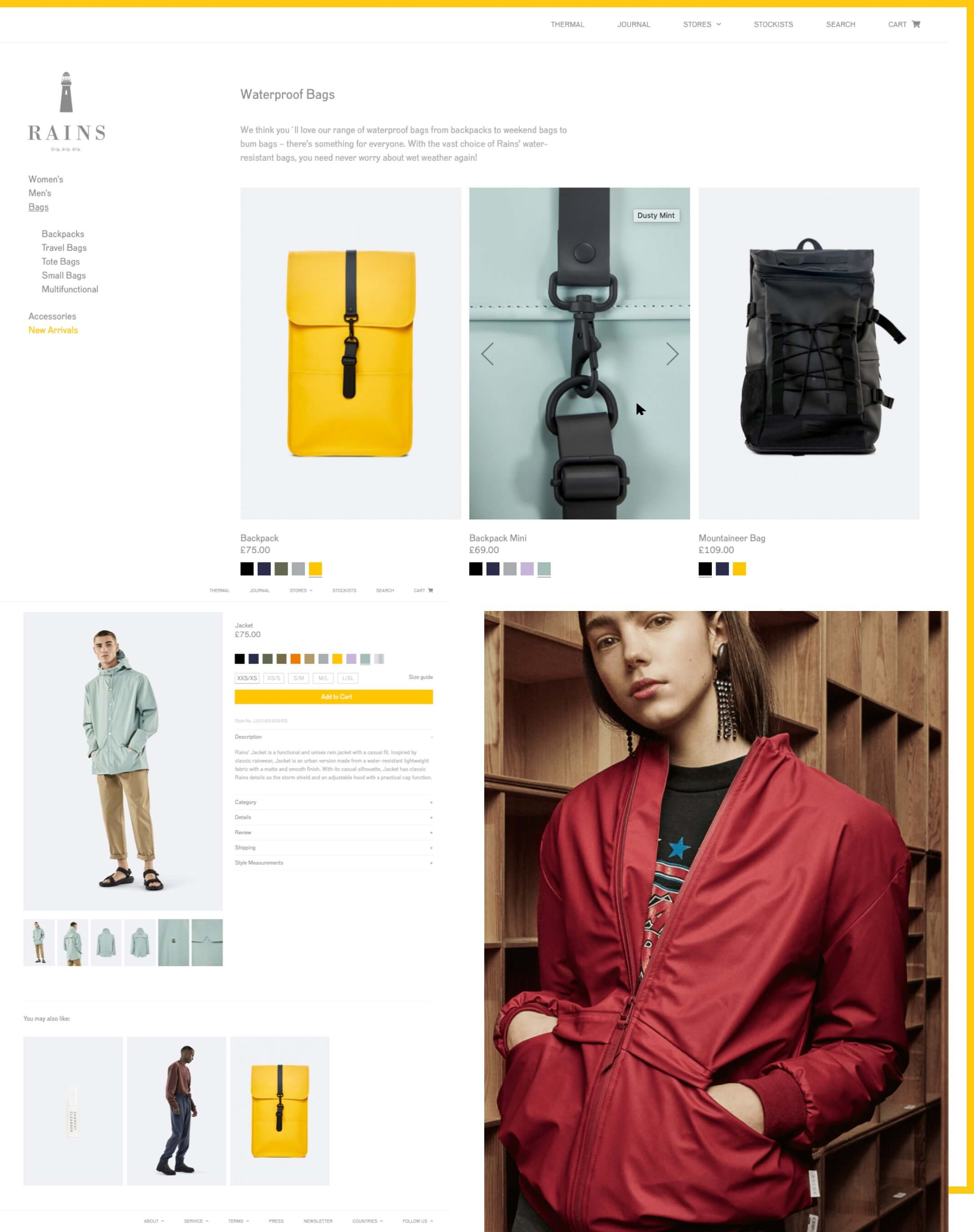 Rains Bags Desktop Image