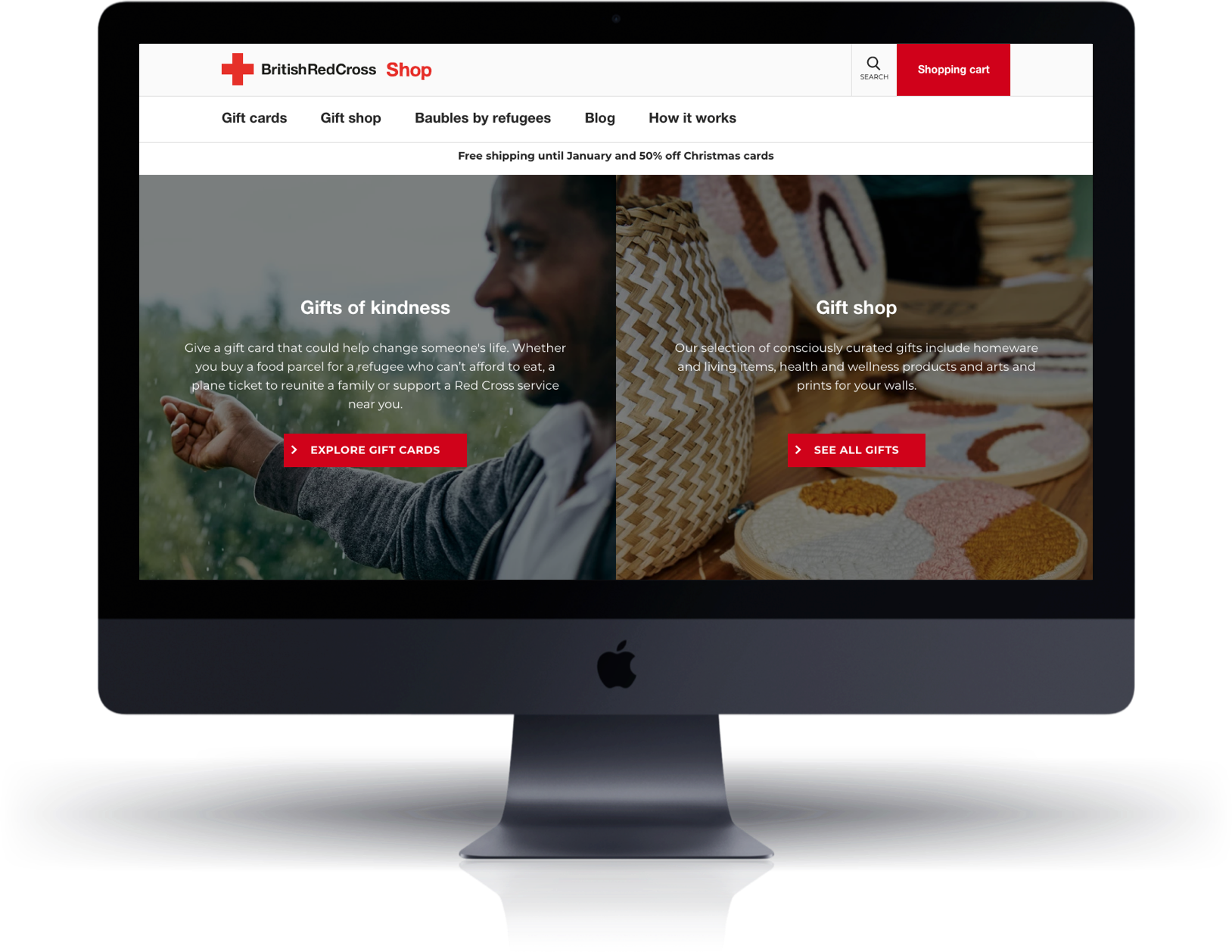 Red Cross Gift Shop Shopify Site