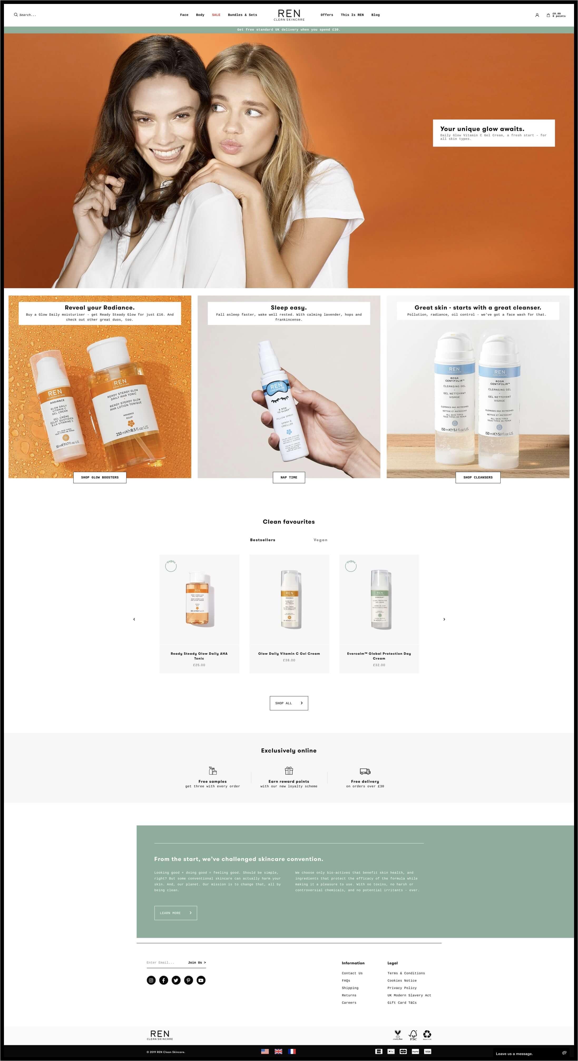 REN Skincare Desktop Image