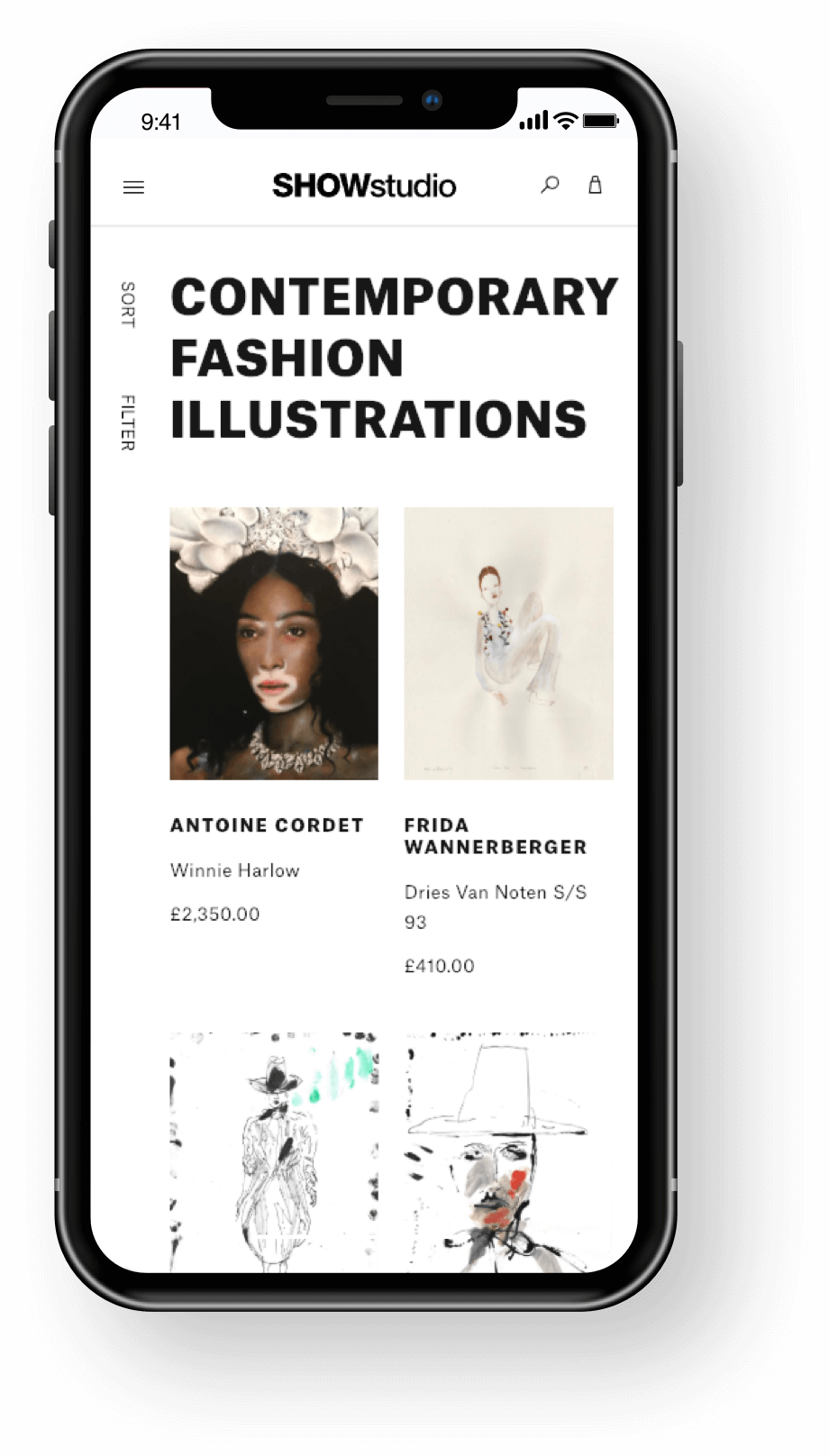 SHOWstudio Mobile Categories