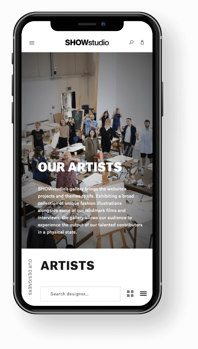SHOWstudio Mobile Artists