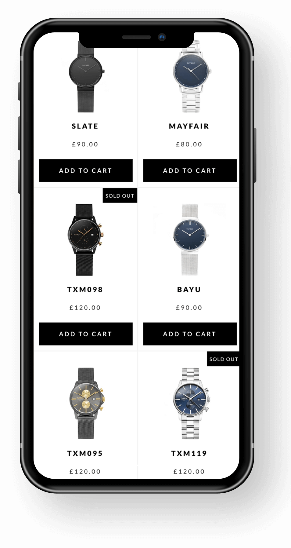Tayroc Mobile Product Page